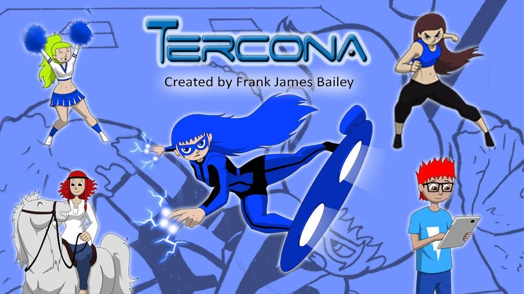 This is Tercona and her friends. They are the starts of the comic book series created by Frank James Bailey.